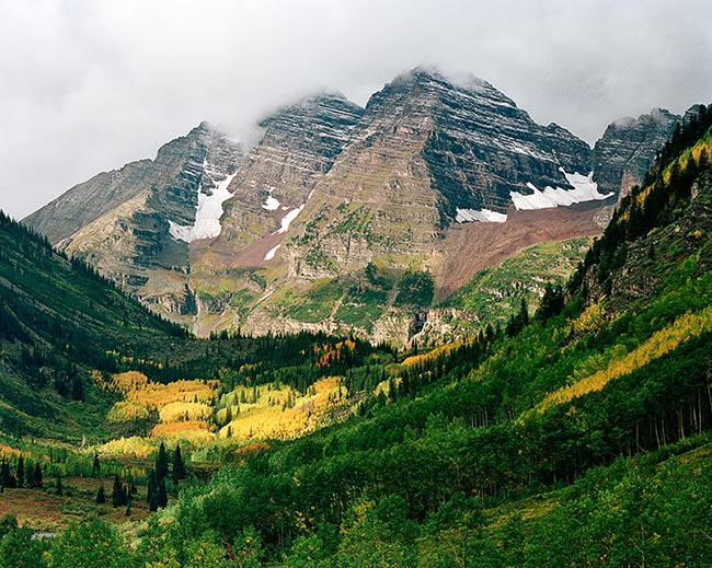 [© Aspen In Color by Stuart Huck is described with Autumn, Fall, Rocky Mountains, Mountains, Mountain, White River National Forest, Rockys, Maroon Bells, Elk Range, Colorado, Aspen, Horizontal, Woods, Trees, Snowy, sky, Mt., Foliage, Evergreen, Clouds, Aspens, Alpine, Air, Yellows, Green, golden, Brown, Neutrals, Color, Fine Art, Stock, Cool, Gold, Maroon Bells-Snowmass Wilderness, Rocky Mountain, Tree, Cloudy, Forest, Pine, Pines hit 14065 rate ]
