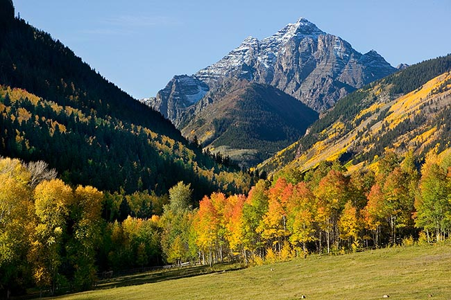 [© Fall Pyramid T Lazy 7, H by Judy Hill is described with Color, Warm, Farm, Woods, Mountain, Horizontal, Fall, Fine Art, Stock, Blue, Gold, Gray, Orange, Yellows, Maroon Bells-Snowmass Wilderness, Aspen, Colorado, Rockys, Rocky Mountain, Pyramid, Pyramid Peak, Foliage, Grass, Mt., Pasture, Tree, Alpine, Mountains, Ranches, 2005, Cottonwoods, Aspens, Rocky, Rocky Mountains, golden hit 13204 rate ]