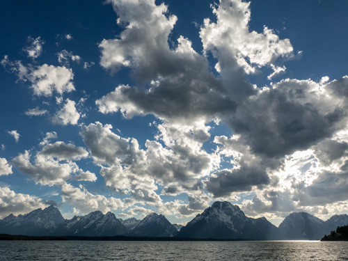 [©  by Amory B. Lovins is described with Fine Art, Stock, Grand Teton National Park, Mt. Moran, Clouds, Whilte, Blue, Grey, Mountain, Mt. Moran, Sky, Cool, summer, spring, Rocky Mountains hit 3259 rate ]