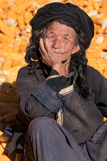 [© Yunnan Grandmother by Amory B. Lovins is described with China, Fine Art, Color, Vertical, Portrait, Woman, Elder, Corn, Fall, Smile hit 1696 rate ]