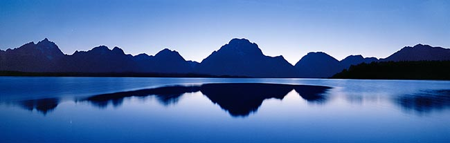 [© Night Calm by Judy Hill is described with Stock, Color, Cool, Mountain, Water, Horizontal, Panorama, Summer, Spring, Winter, Fall, Black, Blue, White, Silver, Rocky Mountain, Rockys, Air, Blue sky, Mt., Lake, Reflections, Alpine, Sunset, Lakes, Rocky Mountains, Grand Teton National Park, Jackson Lake, Mt. Moran, Teton, Wyoming, Fine Art, retro hit 12495 rate ]