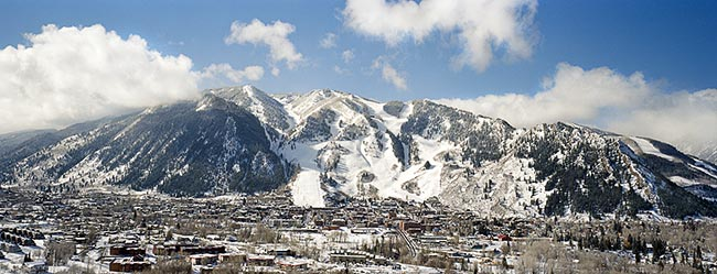 [© Ajax by Judy Hill is described with Stock, Color, Cool, Neutrals, Mountain, Town, Horizontal, Panorama, Winter, Buildings, Historic, Old Buildings, Opera House, Street, Blue, Beige, White, Brown, Gray, Ajax, Aspen, Aspen Mountain, Colorado, Rocky Mountain, Rockys, Roaring Fork Valley, White River National Forest, Ski Area, Air, Blue sky, Clouds, Stone, Mt., Old things, Road, Mountains, City, Fine Art hit 10654 rate ]